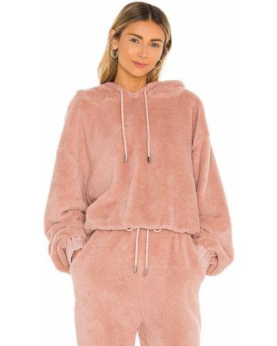 Розовый шерстяной свитер с капюшоном Lpa