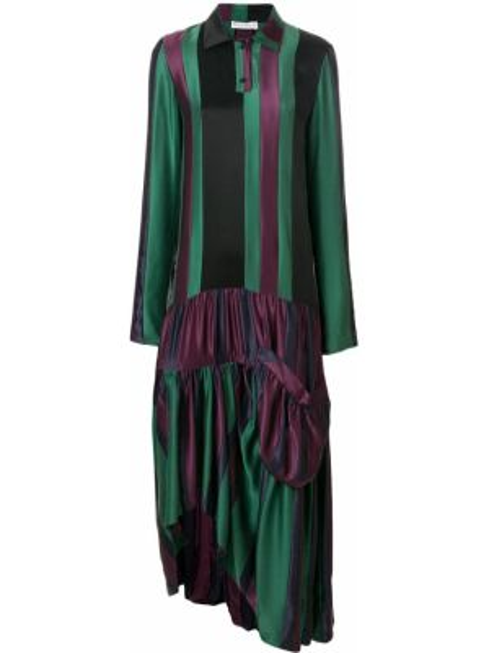 Платье на пуговицах со вставками Jw Anderson