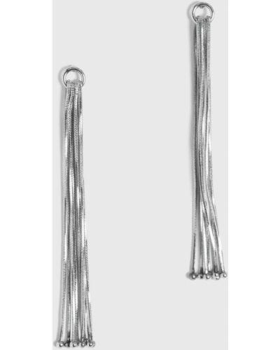 Серьги металлические серебряного цвета Pieces