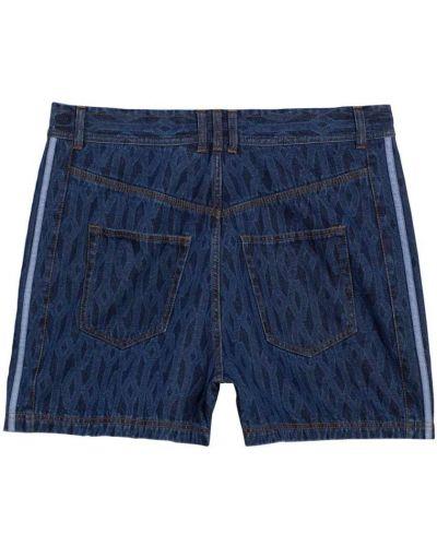 Синие шорты с завязками Adidas X Ivy Park