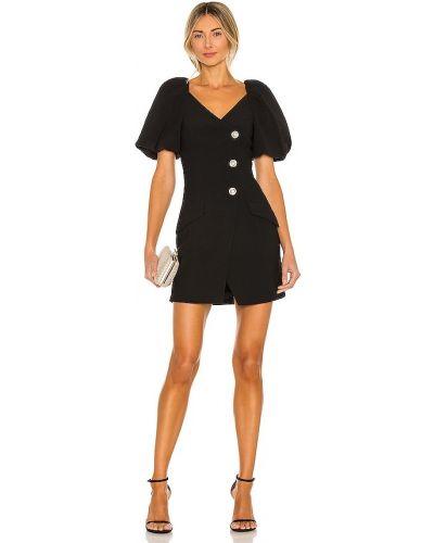 Деловое черное платье мини с подкладкой Misha Collection