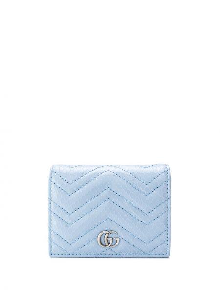 Srebro portfel skórzany z gniazdem z prawdziwej skóry z kieszeniami Gucci