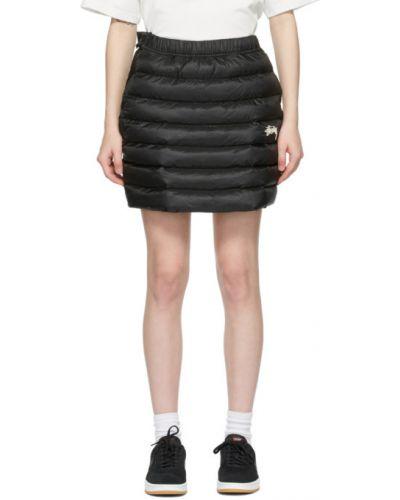 Czarna spódnica pikowana z haftem Nike