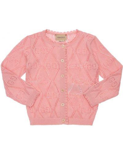 Różowy kardigan Gucci