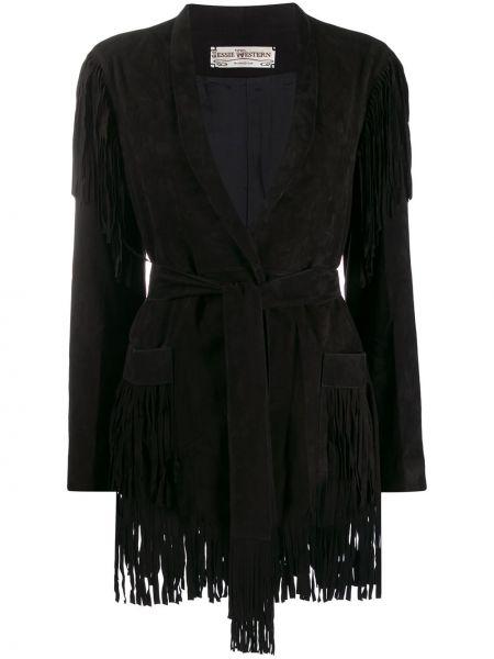 Прямая черная длинная куртка Jessie Western