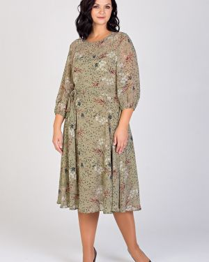 Платье с поясом платье-сарафан шифоновое Filigrana