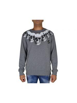 Szara bluza z długimi rękawami bawełniana Philipp Plein