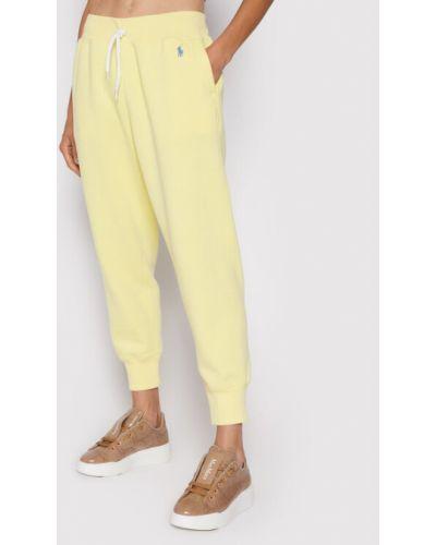 Żółte spodnie dresowe Polo Ralph Lauren