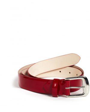 Кожаный красный ремень Maison Margiela
