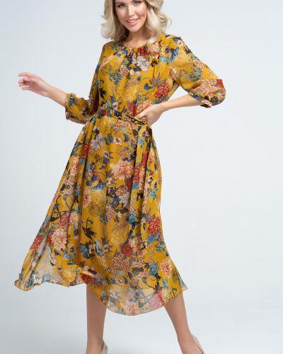 Шифоновое платье миди прима линия
