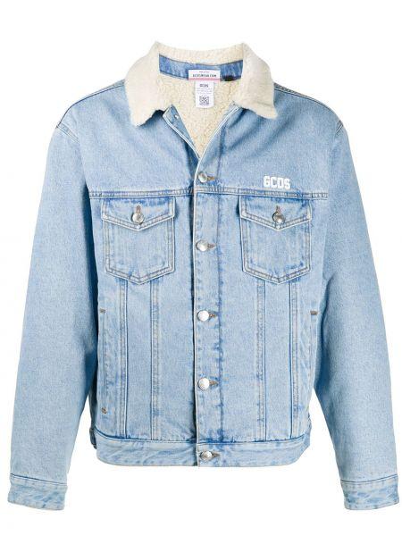 Niebieskie jeansy bawełniane z długimi rękawami Gcds
