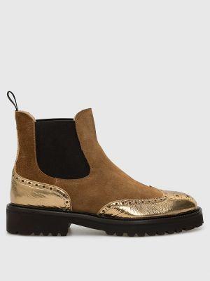 Замшевые ботинки челси - коричневые Doucal's
