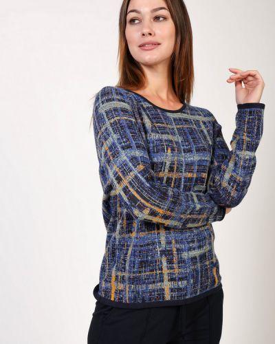 Синий хлопковый пуловер Basler