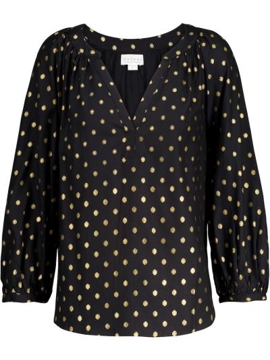 Bluzka z aksamitu - czarna Velvet