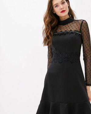 Вечернее платье осеннее черное Rinascimento