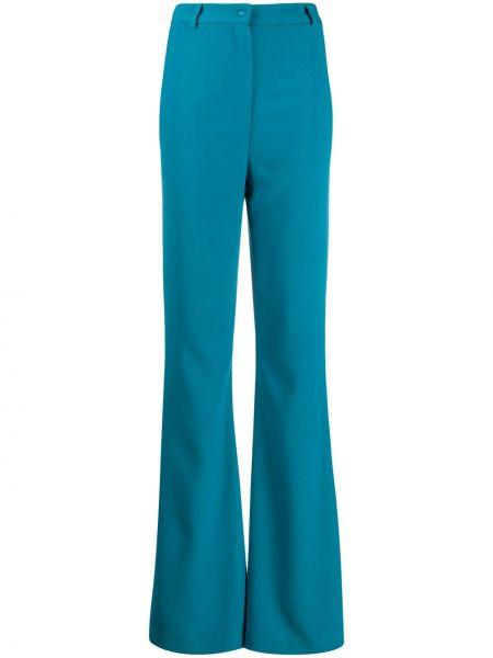 Расклешенные брюки с поясом с высокой посадкой из вискозы Hebe Studio