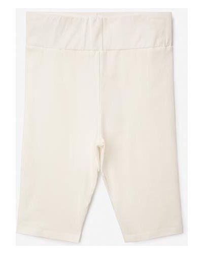 Облегающие белые леггинсы эластичные Gloria Jeans