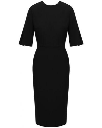 Платье из вискозы - черное Roland Mouret