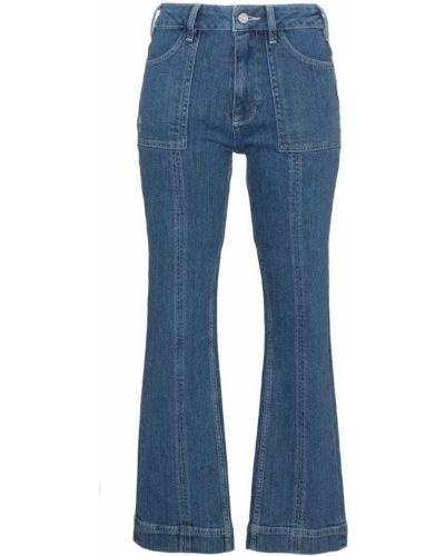 Расклешенные джинсы с карманами Ganni