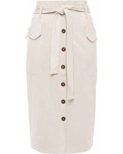 Замшевая юбка миди с карманами с заплатками Each X Other