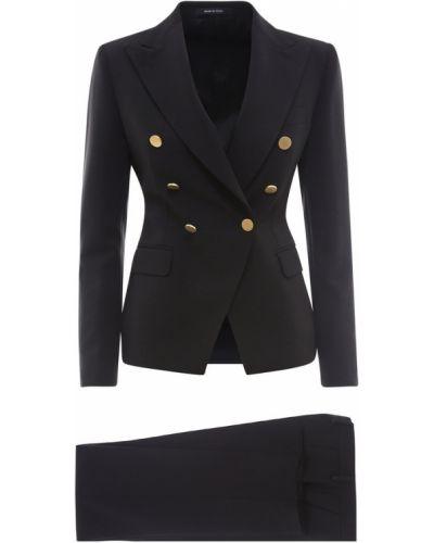 Złoty szary garnitur dwurzędowy elegancki Tagliatore