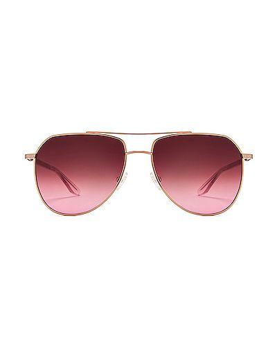 Złote różowe okulary Barton Perreira