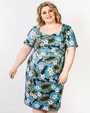 Летнее платье футляр с цветочным принтом Jetty-plus