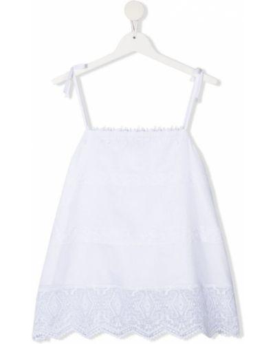 Кружевная белая блузка со вставками Ermanno Scervino Junior