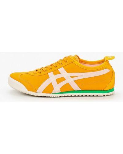 Текстильные желтые кроссовки Onitsuka Tiger