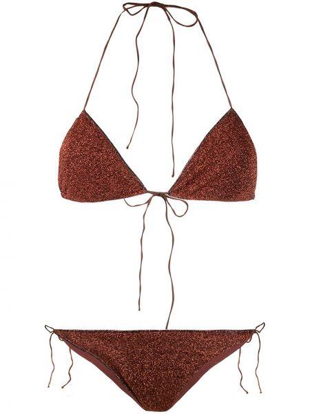 Brązowy bikini z nylonu Oséree