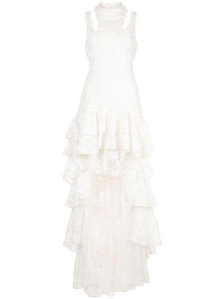 Асимметричное приталенное платье с оборками без рукавов Alexis