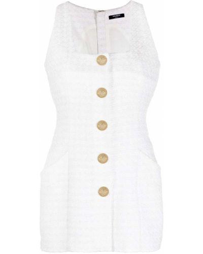 Sukienka złoto z wiskozy plac Balmain