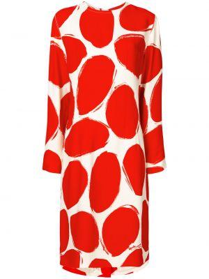 Хлопковое платье миди - красное Marni
