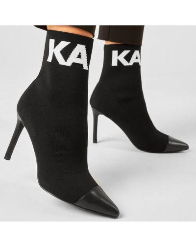 Czarny botki Karl Lagerfeld