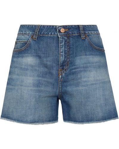 Ватные синие хлопковые джинсовые шорты Victoria Victoria Beckham