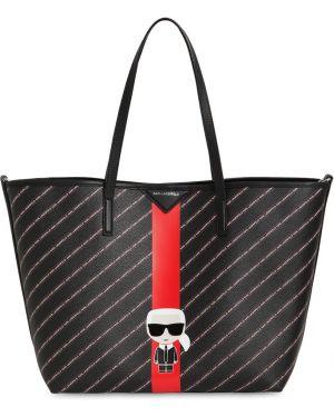 Кожаная сумка с ручками с двумя ручками Karl Lagerfeld