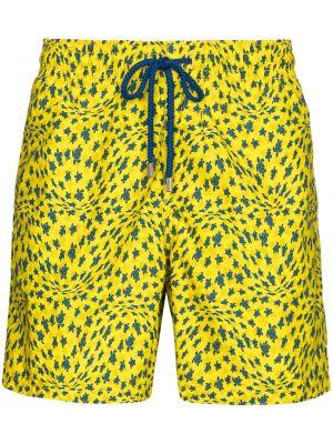 Żółte szorty bawełniane Vilebrequin