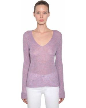Шерстяной свитер - фиолетовый Rag&bone