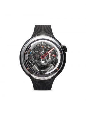 С ремешком серебряные часы механические c сапфиром Hyt