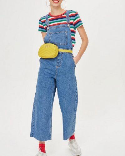 Синий джинсовый комбинезон Topshop