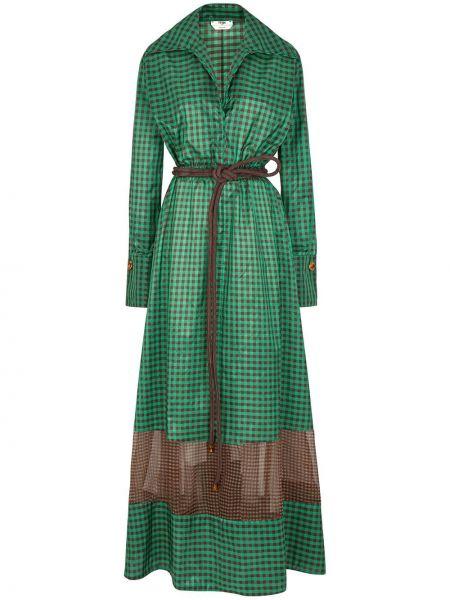 Платье макси классическое с отложным воротником Fendi