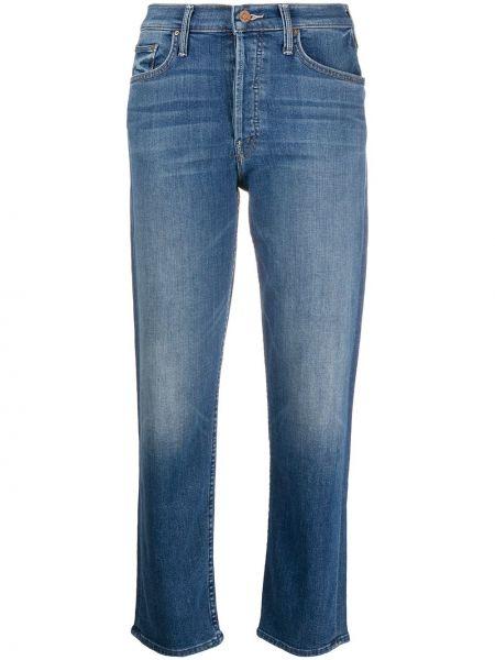 Прямые джинсы синие слим фит Mother