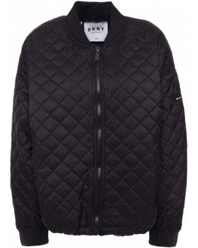 Черная нейлоновая куртка Dkny