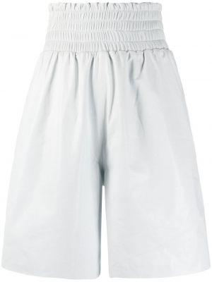 Свободные белые кожаные шорты Manokhi