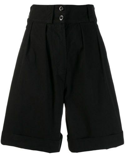 Однобортные черные шорты на пуговицах Margaret Howell