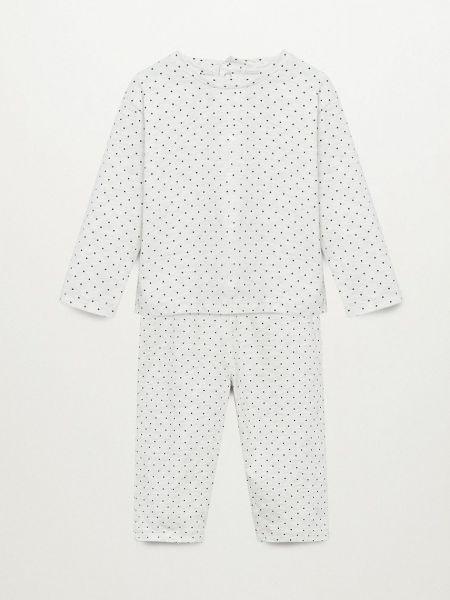 Хлопковая пижама - серая Mango Kids