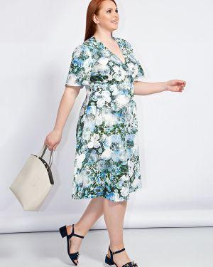Расклешенное приталенное летнее платье с V-образным вырезом на молнии Dora