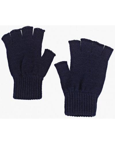 Текстильные синие перчатки Defacto