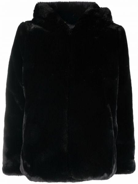 Czarna kurtka z kapturem Apparis
