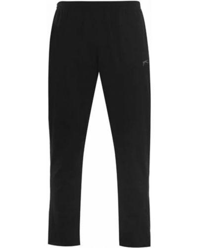 Трикотажные спортивные брюки - черные Slazenger